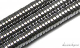 10 strengen Hematiet discs 6x2mm silver