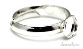 4 stuks Sterling zilveren ring voor cabochon 6mm