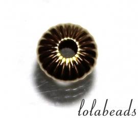 10 stuks 14 karaat gouden spacer / kraal ca. 3mm
