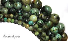 10 strengen African Turquoise kralen rond ca. 4mm
