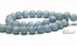 5 strengen Aquamarijn kralen ca. 6mm A kwaliteit