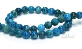 10 strengen Blue crazy Agaat kralen rond ca. 10mm (21)
