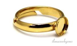 4 stuks Vermeil ring voor cabochon 6mm