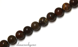 10 strengen Jaspis kralen rond ca. 4mm (51)