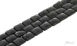 10 strengen Onyx kralen facet vierkant ca. 12x12mm