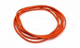 ORANGE: Griffin koord leer 1,3mm / 1 meter