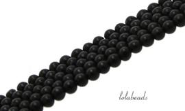 10 strengen Matte Onyx kralen rond ca. 3mm