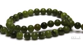 10 strengen Taiwan Jade kralen rond ca. 4mm (39)