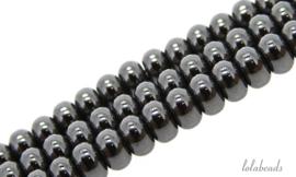 10 strengen Hematiet kralen rondel ca. 8x5mm