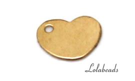 12 stuks Gold filled labeltjes ca. 8x6mm