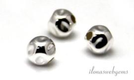 100 stuks Sterling zilveren nugget kraal 8mm