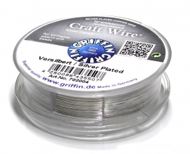 Griffin Craft Wire Silver plated 0,25mm / 35 meter