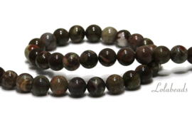 10 strengen Rainforest Agaat kralen rond ca. 12mm (91)
