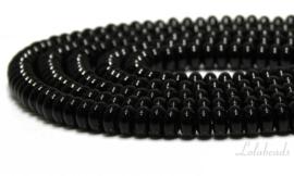 10 strengen Onyx kralen rondel ca. 8x4mm