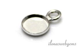 25 stuks Sterling zilveren hangertje voor cabochon 6mm