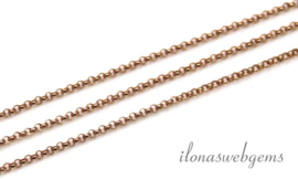 ca. 3 meter 14k/20 Rosé gold filled jasseron ketting / schakels