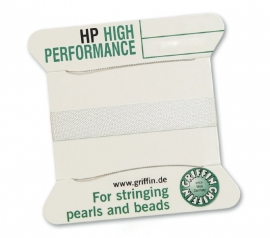 WHITE: Griffin rijgdraad high performance 0,30mm No. 0