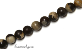 10 strengen Jaspis kralen rond ca. 4mm (42)