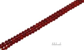 10 strengen Cornalijn/ Karneool kralen rond ca. 3mm