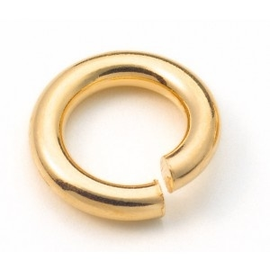 Griffin open oogje gold plated  3,7x0,8mm