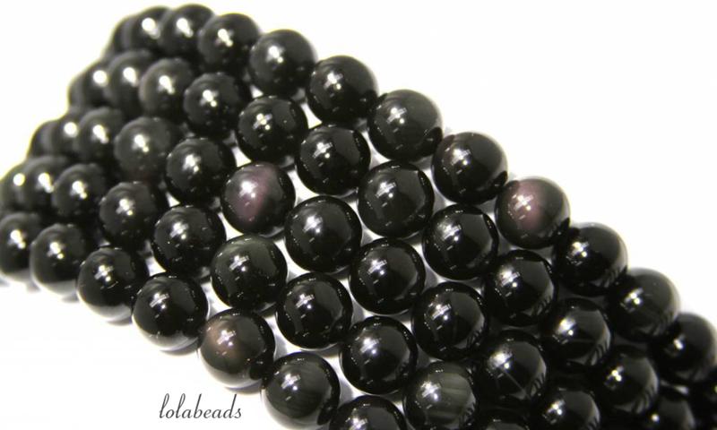 10 strengen Regenboog Obsidiaan kralen rond ca. 6mm