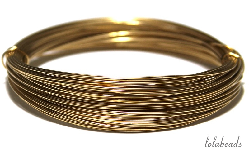 2.85 meter Gold filled draad  ca. 1,3mm half hard