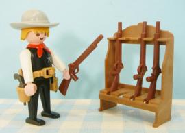 Playmobil 3381 Sheriff met wapens - Playmobil western