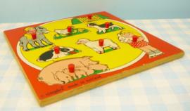 Simplex vintage houten puzzel - Boerderij