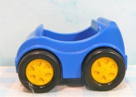 Vintage Lego Duplo figuur 2 racewagens - Voertuigen