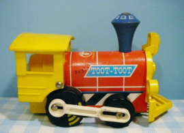 Fisher Price no. 643 Toot Toot Engine -  Lokomotief 1964