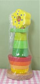 Houten speelgoed stapelfiguur - Bloem