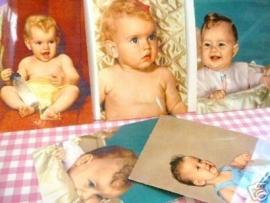 Ansichtkaarten Baby's jaren 50 set 5 stuks