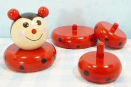 Houten stapelfiguur lieveheersbeestje - Houten speelgoed