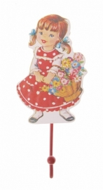 Haakje `Heidi met bloemenmandje` - Little girl hook