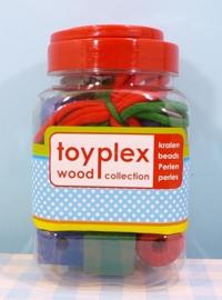 Pot grote houten kralen stuks - Wooden toy