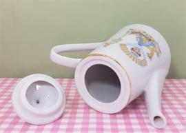 Vintage kinderservies theepotje - jaren 60 porselein