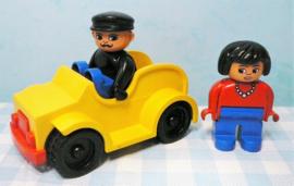 Vintage Lego Duplo auto met figuren