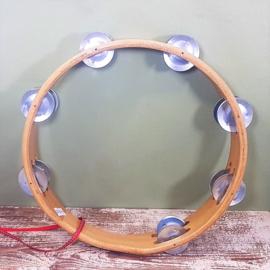 Houten speelgoed muziekinstrument - Tamboerijn 25 cm
