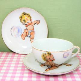 Vintage kinderserviesje Baby - porselein