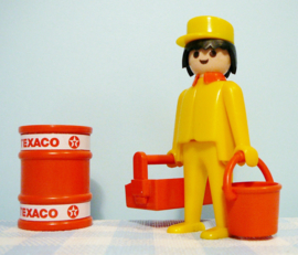 Vintage Playmobil figuur Texaco garage - 1979