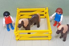 Playmobil 3579 kinderen met pony's - jaren 80