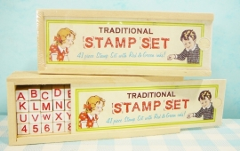 Stempelset ABC - Traditional Stamp Set