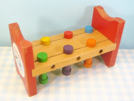 Vintage Playskool Pounding Bench - houten speelgoed