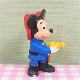 Vintage Bullyland figuur Mickey Mouse als brandweerman