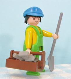 Playmobil 3780 figuur chauffeur vuilniswagen