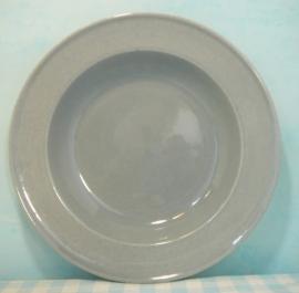 Boch Belgium - diep bord grijs 21 cm