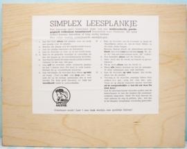 Simplex houten leesplankje no. 223