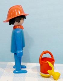 Vintage Playmobil figuur brandweerman met masker - 1974