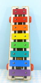 Fisher Price vintage houten Xylofoon Pull-A-Tune 870 1964