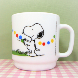 Vintage Snoopy Peanuts beker melkglas - Harmonia Spain